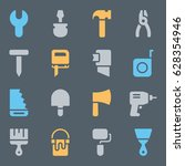 web icons set of repair tools.... | Shutterstock .eps vector #628354946