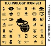 technology innovation icons set.... | Shutterstock .eps vector #628356182