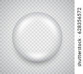 water drop on transparent... | Shutterstock .eps vector #628356572