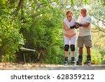 senior couple having fun while... | Shutterstock . vector #628359212