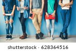 diversity students friends... | Shutterstock . vector #628364516