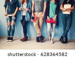 diversity students friends... | Shutterstock . vector #628364582