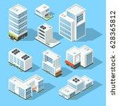 isometric industrial buildings  ... | Shutterstock .eps vector #628365812