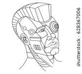 steam punk style man head.... | Shutterstock .eps vector #628367006