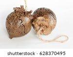 coconut shell carving. | Shutterstock . vector #628370495