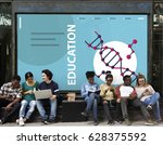 science dna research... | Shutterstock . vector #628375592