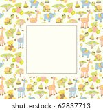 baby greeting card or frame | Shutterstock .eps vector #62837713
