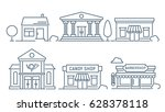 city buildings line icon | Shutterstock .eps vector #628378118