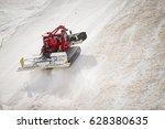 Snow Groomer Machine Working.