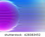 neon lines background with... | Shutterstock .eps vector #628383452