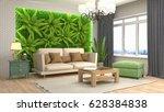 interior living room. 3d... | Shutterstock . vector #628384838