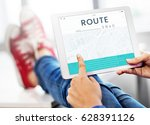 map gps direction navigation... | Shutterstock . vector #628391126