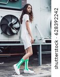 streetstyle  fashion. young... | Shutterstock . vector #628392242