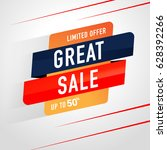 great sale icon sale and... | Shutterstock .eps vector #628392266
