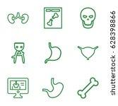 anatomy icons set. set of 9... | Shutterstock .eps vector #628398866