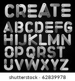 meccano alphabet | Shutterstock .eps vector #62839978