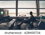 silhouette of the traveler... | Shutterstock . vector #628400726