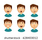 collection of man with a... | Shutterstock .eps vector #628403012