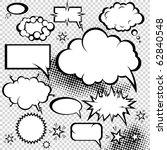 comic style speech bubbles... | Shutterstock .eps vector #62840548