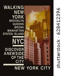 photo print new york   tee... | Shutterstock . vector #628412396