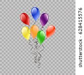 festive balloons flying for... | Shutterstock .eps vector #628415576