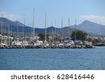 Small photo of View of Aigina Marina in Greece.