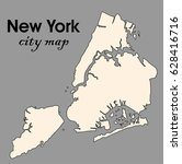 new york city vector map | Shutterstock .eps vector #628416716