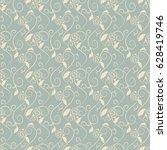 antique seamless background... | Shutterstock .eps vector #628419746