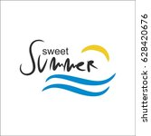 sweet summer background | Shutterstock .eps vector #628420676