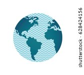 world with waves inside... | Shutterstock .eps vector #628424156