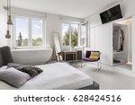 multifunctional modern bedroom... | Shutterstock . vector #628424516
