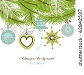 christmas background | Shutterstock .eps vector #62842537