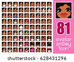 vector set 81 social media... | Shutterstock .eps vector #628431296