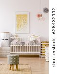 newborn room in scandinavian... | Shutterstock . vector #628432112