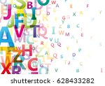 vector abstract alphabet... | Shutterstock .eps vector #628433282