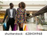 smiled afro american couple... | Shutterstock . vector #628434968