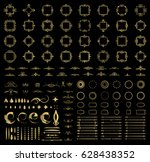 circle and square wicker... | Shutterstock .eps vector #628438352