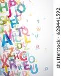 vector abstract alphabet...   Shutterstock .eps vector #628441592
