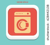washing machine icon. home... | Shutterstock .eps vector #628442138