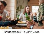 group of happy young men... | Shutterstock . vector #628449236