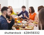 young people having fun at... | Shutterstock . vector #628458332
