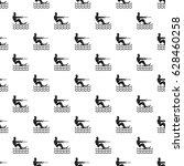 water skiing man pattern... | Shutterstock .eps vector #628460258