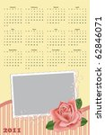 wedding photo frame with... | Shutterstock .eps vector #62846071