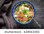 tabbouleh salad with soft white ... | Shutterstock . vector #628461002