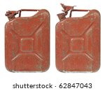 Rusty Gas Can Isolated On Whit...