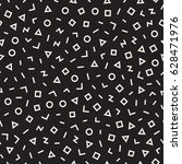 scattered geometric line shapes.... | Shutterstock .eps vector #628471976