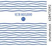 wavy sailor stripes  streaks ... | Shutterstock .eps vector #628473092