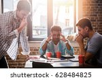 young professionals... | Shutterstock . vector #628484825