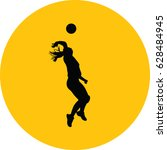 volleyball woman player | Shutterstock .eps vector #628484945