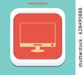 lcd vector icon   Shutterstock .eps vector #628490888